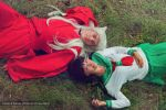 Inuyasha and Kagome Cosplay - Meadow by SchneeAmsel