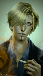 Sanji (One Piece) for Kiriban winner Saint-Dev1l by SweeetRazzbery