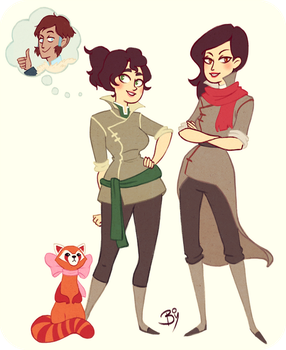Mako and Bolin Rule'd 63 by Cheeky-Bee