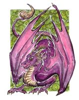 ACEO I'm poisonous by LeoDragonsWorks