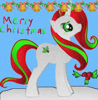 Holly a Christmas pony by REBELHEART1979