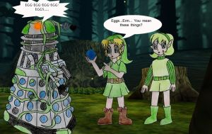 Link and Saria's discovery part 2 by Animedalek1
