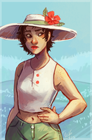 Sun hat by Electricgale