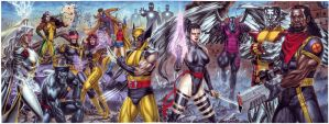 The X-Men - 44x17 Inches by edtadeo