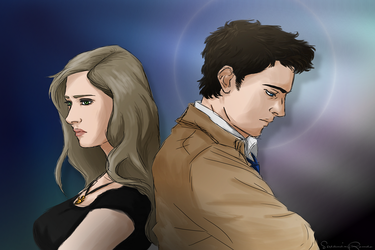 Castiel and female Dean by ScreamingRomeo