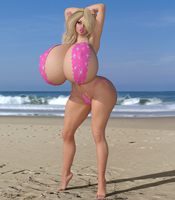 The Succubus In Pink - Beach preview by TinyThea