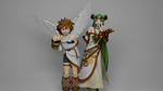 Pit and Palutena posing while gagged by TheBlenderTaper
