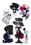  MISC Tophats and Tophats and... by GalaxyPixies45