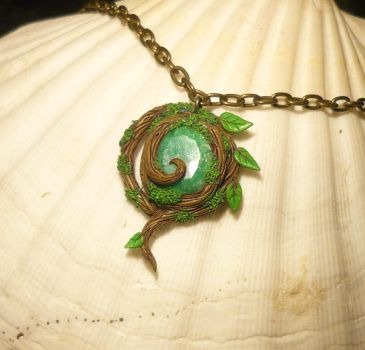 Real Kokiri Emerald - Pendant with Emerald by Ganjamira