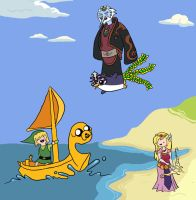 Adventure Time Wind Waker cross over by StarkRavingMaddie