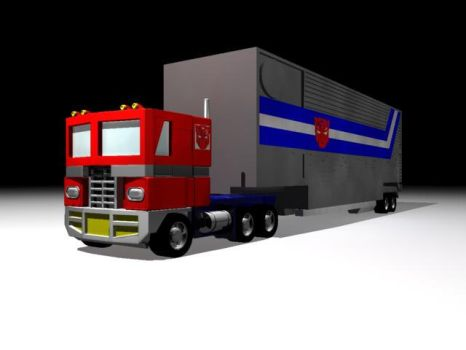 Optimus Prime Truck Mode by thequestionmark