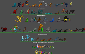 Monster groups for''They came from Dimension A52'' by Thunderstudent
