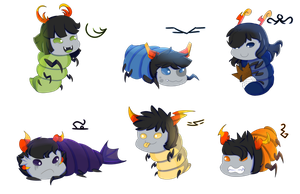 Homestuck Troll Grubs OC by deltari2