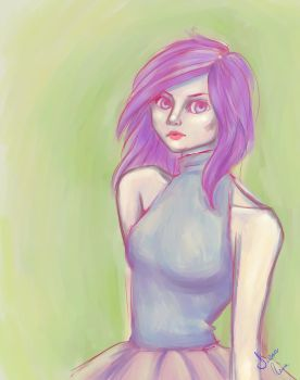 Quick Painterly Sketch by artfreaksue