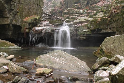 Waterfall of Satina brook by MetalMouseArt
