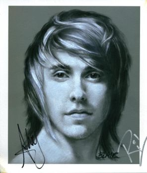 Alex Gaskarth, signed by Cynthia-Blair