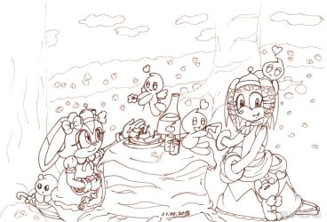 COLLAB: Tikal and Cream - On a Picnic by Juricha