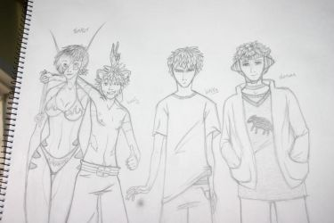 The Gang sketch by Absolicious