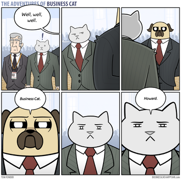 The Adventures of Business Cat - Confrontation by tomfonder