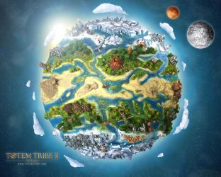 Wallpapper for Totem Tribe online. Tiny planet by akmil