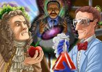 ERB: Sir Isaac Mewton Vs Bill Nye the science guy by SemajZ