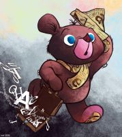 The Typography Bear by MelDraws