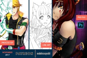 Patreon Rewards Preview Nov '17 by suishouyuki