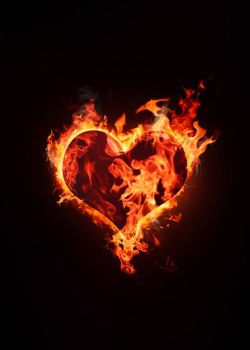 Heart in Flame by TinoxPL