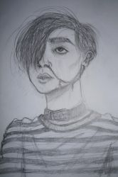 Self Portrait Sketch by DeathNote1qa