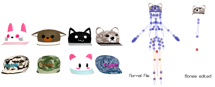 MMD Caps pets Pack Donwload by 9844