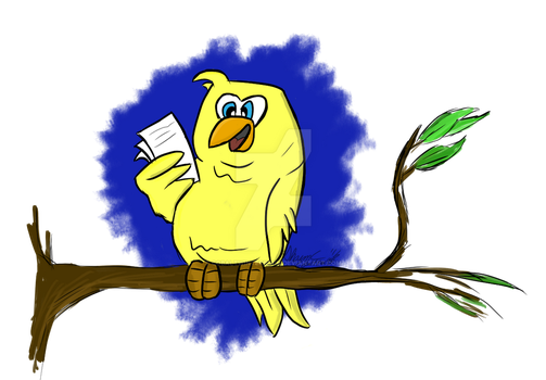 Reading Canary by CobaltWinterborn