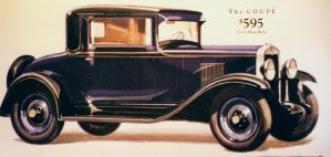 1929 Chevrolet Sales Brochure Illustration by PRR8157
