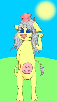 Yellow cow (anthropomorphic) by Unleash333