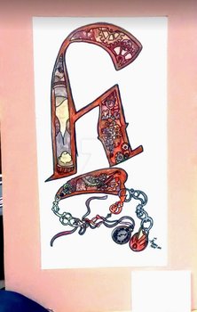 2014- Calligraphied H, Matted by halotherebuddy