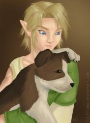 Link and the dog by Filiana
