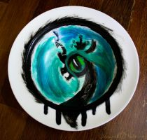 Queen Chrysalis Plate by Chirpy-chi