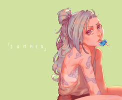 [ LoL ] Summer means popsicles and tans by soap-ai