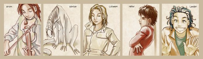 White Noise characters by Mad-Sniper
