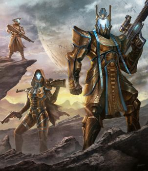 Destiny Titan Concept C with Friends! by cgfelker