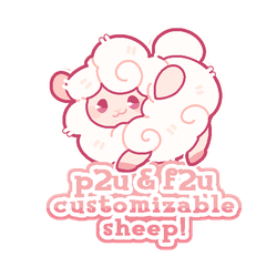 P2U / F2U customizable sheep base! - 100 points! by plushpon