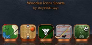 Wooden icons Sports by Uriy1966