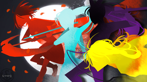 World of Remnant style RWBY Poster by Lightning-in-my-Hand