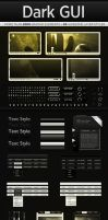 Dark Web GUI PSD Interface Kit by Giallo86
