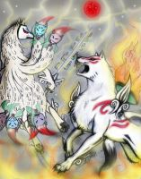 Okami and the Kitsune by CorruptTempest