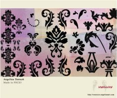 AR - PS Brushes - Damask 01 by AngelinaResource