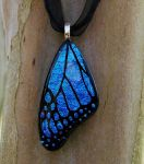 Blue Glass Butterfly Wing by FusedElegance