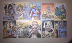 Zombies VS Cheerleaders cards by Dominic-Marco