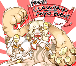 Free! Clawpaw MYO event! (CLOSED) by goldneko