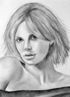 Young Charlize Theron by thematthewholland