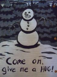 Scary Snowman by LaundryPile